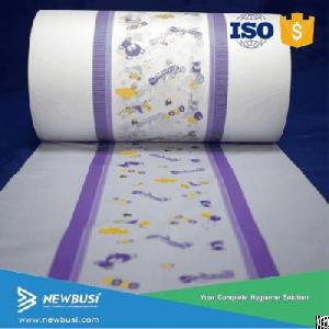 Raw Materials For Baby Diaper Back Sheet, Non Woven And Breathable Pe Lamination Film, Center Lamina