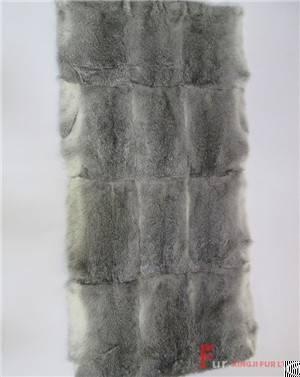 l h chinchilla rabbit fur plate