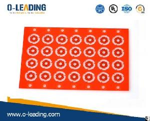 2layer Rigid Pcb With Red Soldermask And Ultra Thin Board Thickness 0.15mm