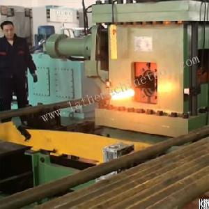 tube forming press upset forging oil control