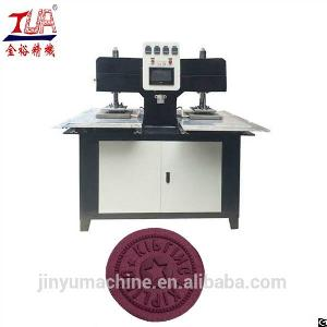jinyu silicone garment logo embossed machine trademark moulding