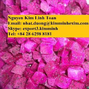 frozen dragon fruit dice chunk half cut quater pulp