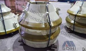 Standard Sandvik H3800 Mantle / Concave Ring Cone Crusher Spare Parts