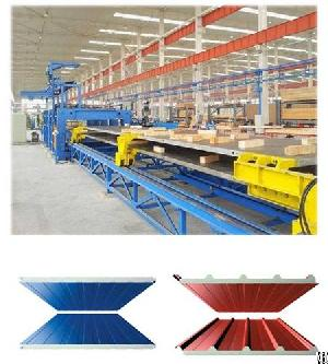 discontinuous pu wall panel line