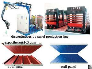 pu sandwich wall roof panel machine line