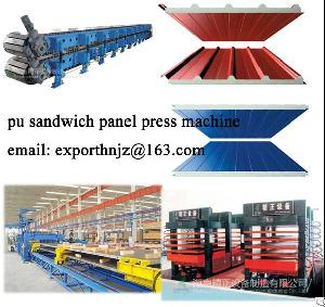Roof And Wall Sandwich Panel Making Machine