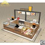 modern shopping mall wooden food kiosk supplier