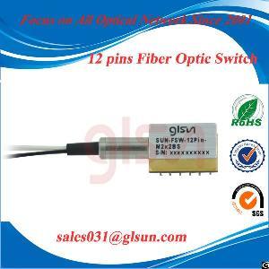 glsun 12 pins mini ended fiber optic switch
