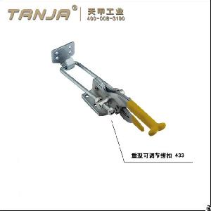 Tanja 433 High Quality 90 Degree Push Pull Heavy Duty Adjustbale Toggle Clasp For Truck Accessory