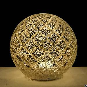 christmas home decoration lattice mercury glass led light sphere globe ball