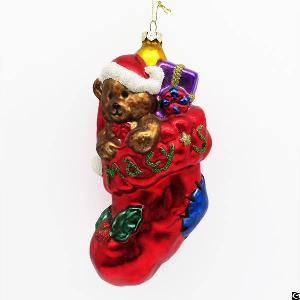painting christmas tree decoration ball ornament glass sock figurines