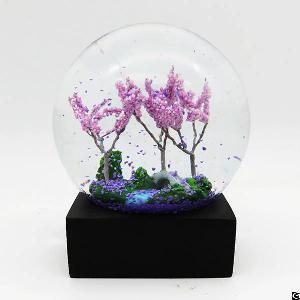 four season glass snow globe wholesale summer
