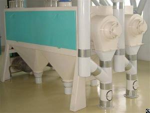 wheat scourer remove impurities husk clay dust adhere surface grain