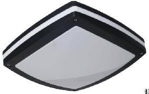 Square Bulkhead Light Black Housing Powdering Coating Ip65 Ik10 Moisture Proof