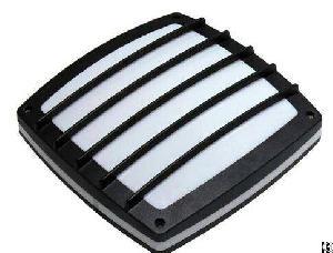 square led bulkhead wall light grill 300 90 mm impact resistance ik10 waterproof