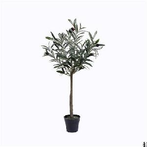 silk potted olive tree