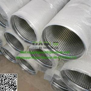 Sus 304, 316l, Wedge Screen Filter Tube Pipe Size Of 9-5 / 8 Water Well Screen