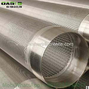 slot stainless steel wedge wire wrapped water screen