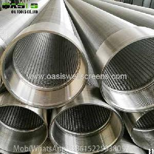 Continuous Slot Stainless Steel Wire Wrapped Water Well Screen Pipe