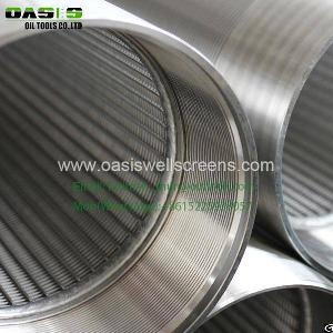 Stainless Steel Wedge Wire Wrapped Screen Pipe 9 5 / 8 Of Water Well Screens