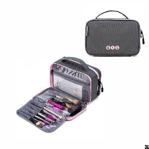 layer travel toiletry bag portable makeup cosmetic kit organizer