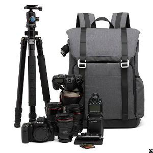 dslr camera backpack padded dividers 15 6 laptop compartment accessory storage