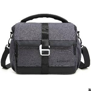 Dslr Camera Compact Gadget Bag With Adjustable Compartment Shoulder Strap For Canon Nikon And More