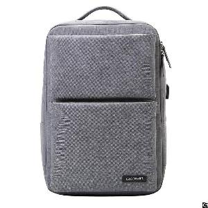 Laptop Backpack Business Bags With Usb Charging Port Anti-theft Water Resistant Polyester