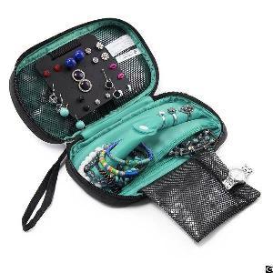 portable travel hanging jewelry storage case ring organiser bag earring holder