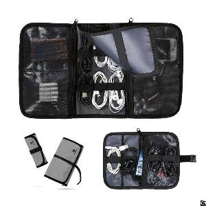 travel usb cable organizer storage bag carry electronic case