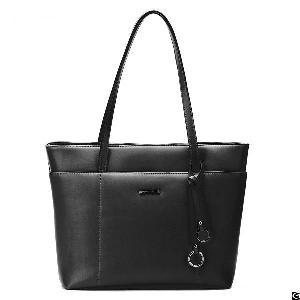 women handle satchel pu leather handbags shoulder bag zip purse faux tote