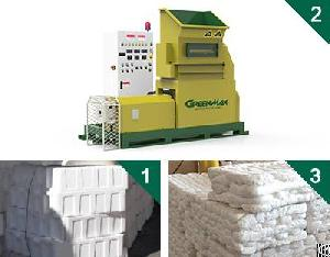 Eps / Epe / Psp / Epp / Xps Melting Machine Of Greenmax Mars Series