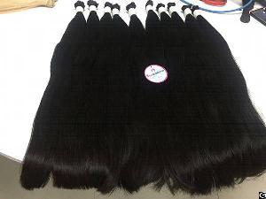 Virgin Hair Bulk Straight #1b 24 Inches