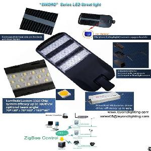 Led Parking Lot Light With 200w Street Area Light Lumileds Smd 5050 60 Lm / W Ip66 Meanwell Driver