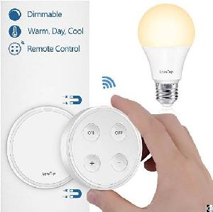 Dimmable A19 E26 Led Light Bulb With Wireless Remote Controller Dim 3 Color Changing, 10w