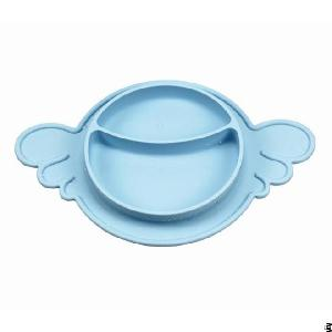 Angel Wings Design Kid Eating Silicone Dinner Dishes And Plates