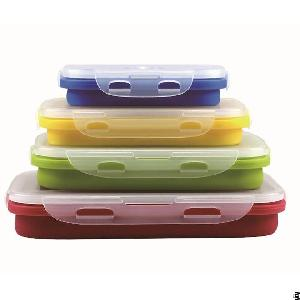 Soft Silicone Foldable Lunch Box
