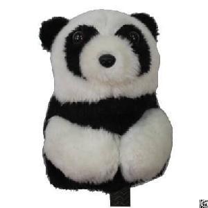 cute soft plush animal golf club head cover panda