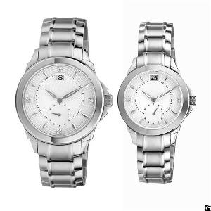 steel couple watch