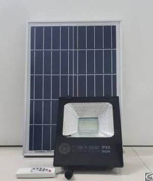 solar spotlight panel power outdoor lighting park square