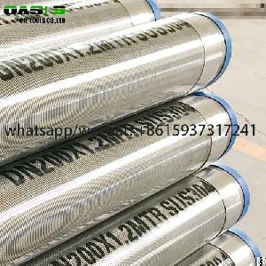 Gravel Prepacked Sand Control Wire Wrapped Water Well Screens