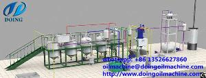 1 10tpd scale palm oil refining plant mini machine
