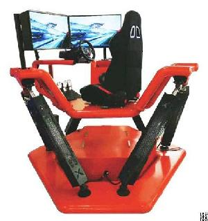 6dof electric motion platform car racing simulator screens