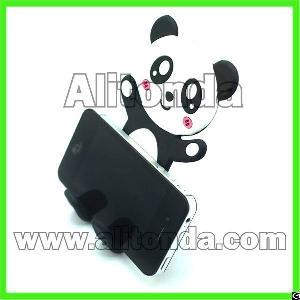soft bend pvc mobile phone cartoon animal panda cow tiger holder