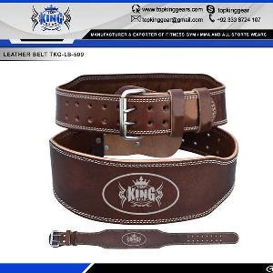 lifting padded leather gym belt