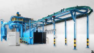 Overhead Rail Conveyor Shot Blasting Machine