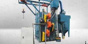 spinner hanger hook shot blasting machine