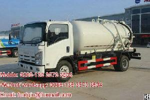 isuzu elf sucking sewage fecal cesspoolage sludge tanker truck 8000l suction