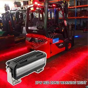 9led 27w Forklift Red Safety Light Dc100v For Construction Ausa Bt Baumann Cat Cesab Clark Hangcha