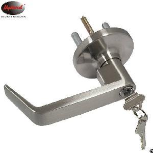 Hyland Oem 027 Ansi Grade 2 Outside Trim Lock For Panic Push Bar, 75mm Rosette Zinc Alloy Handle Tri